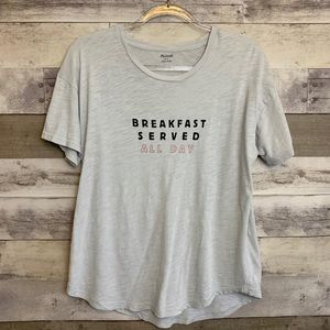 Madewell Breakfast Served All Day Anya Graphic Tee